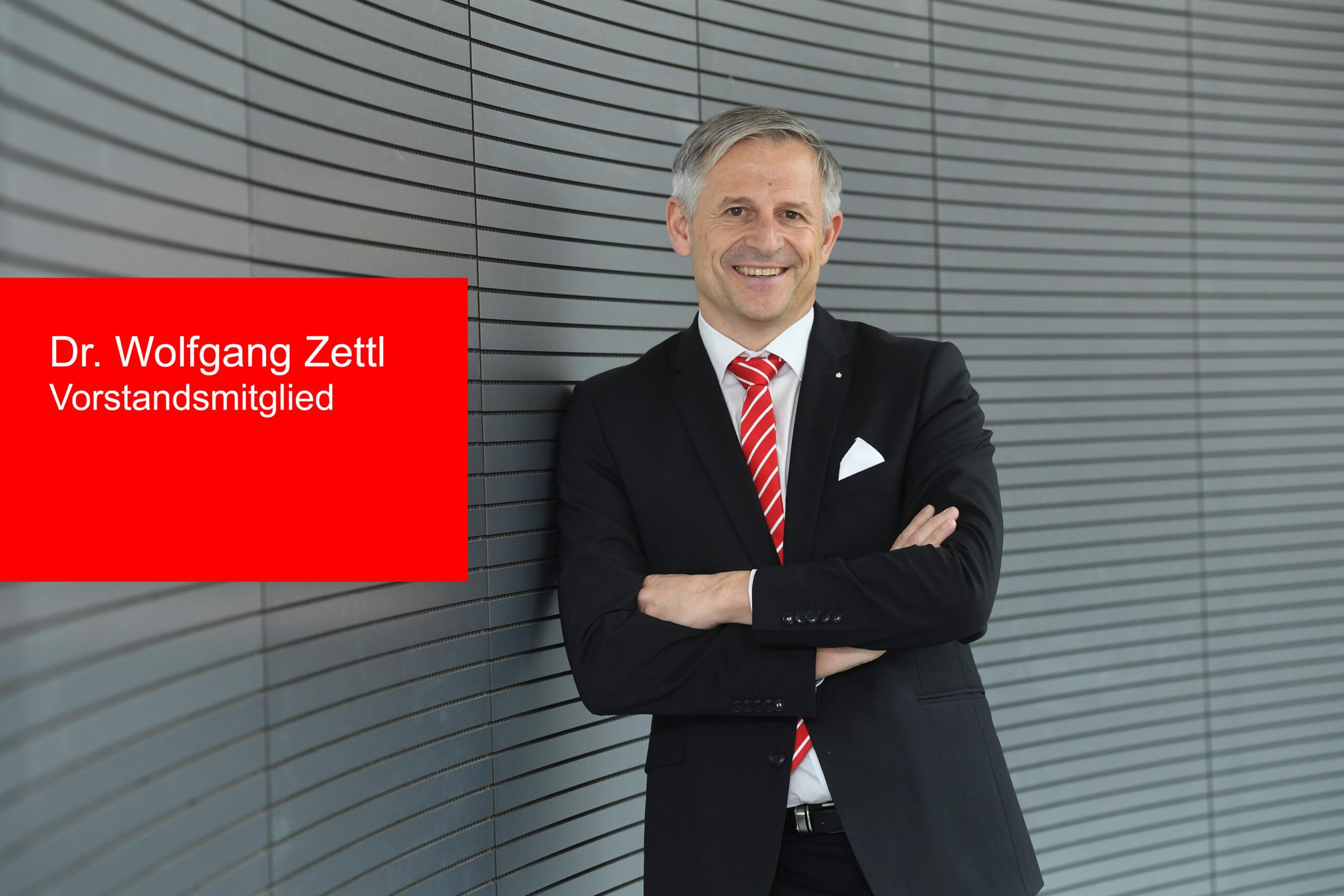 Dr. Wolfgang Zettl ist neues Vorstandsmitglied der  Kreissparkasse Augsburg